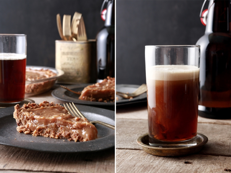 Caramel Pie and Appalachian Flip Recipe Developed and Styled by Quelcy