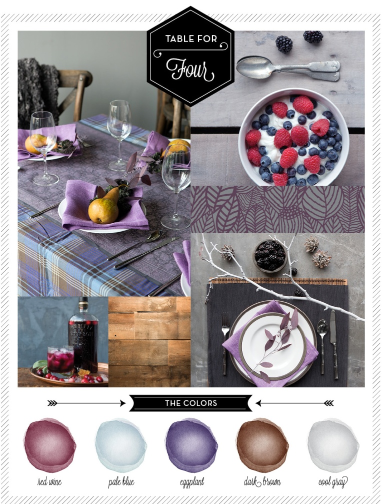 Food & Prop Styling by Quelcy for Table Magazine: A Wine & Eggplant Color Palette