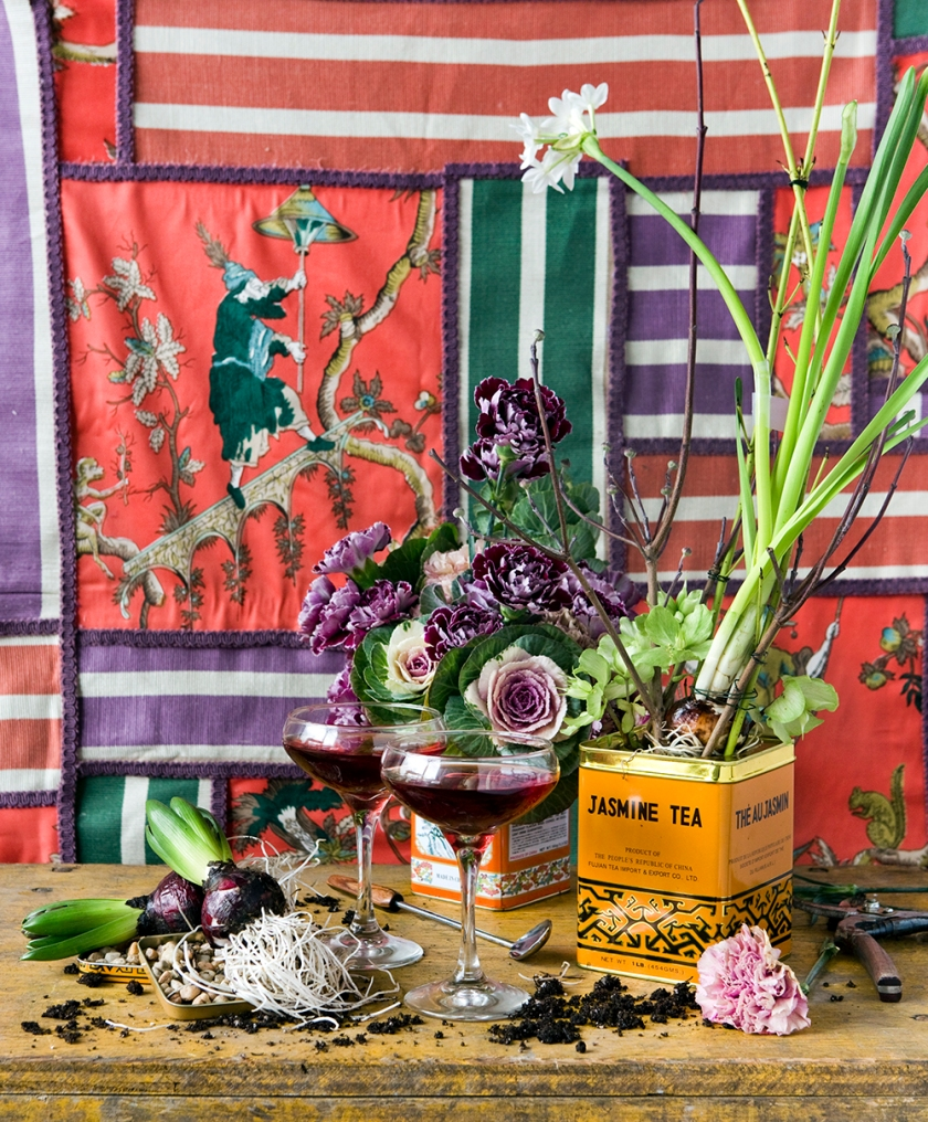 Asia Inspired Cocktail Scene styled by Quelcy // www.Quelcy.com