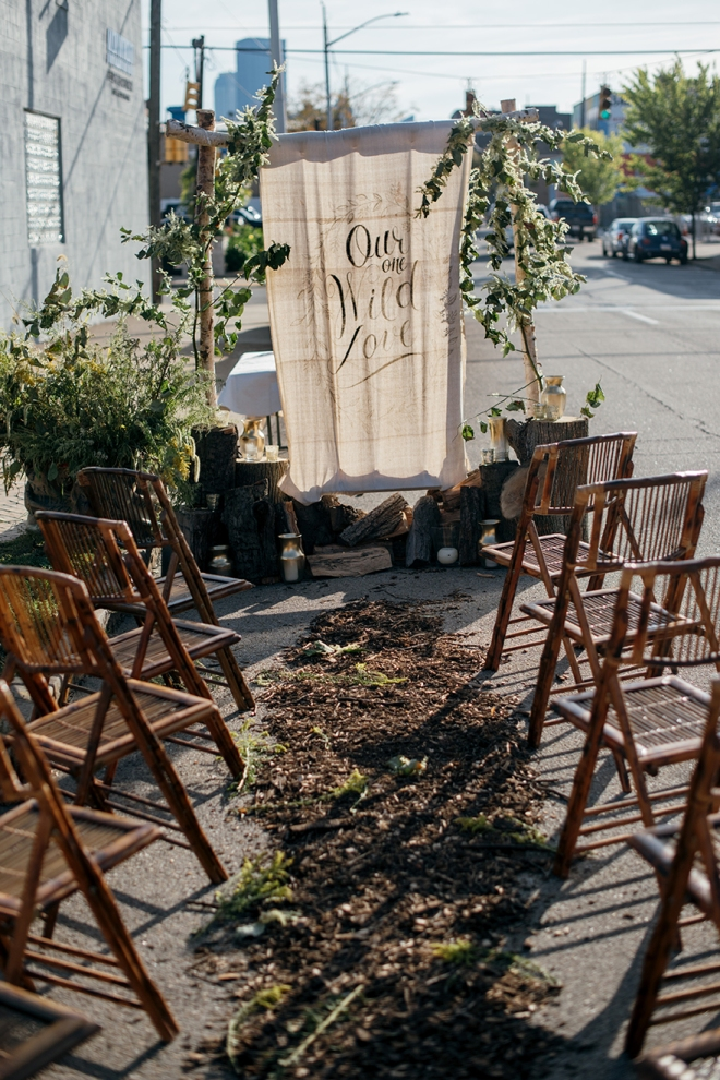 A PARK(ing) Day Wedding Vow Renewal Ceremony // www.Quelcy.com