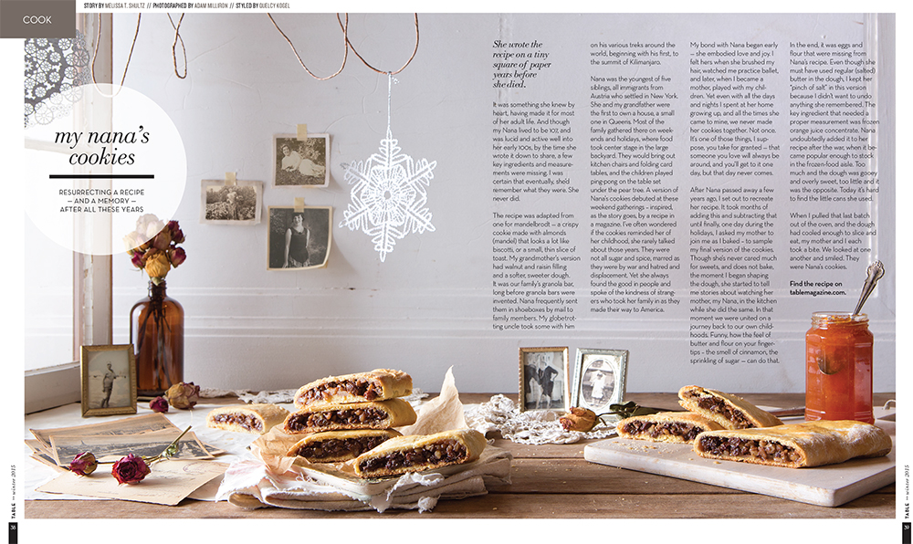 """Nana's Cookies"" Food & Prop Styling for TABLE Magazine // www.Quelcy.com"