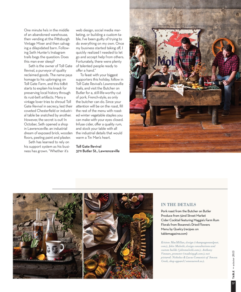 A Rustic Feast at Toll Gate Revival styled by Quelcy // www.Quelcy.com